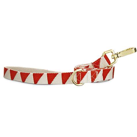 Good2Go Geometric Triangle Dog Leash in Red and Cream