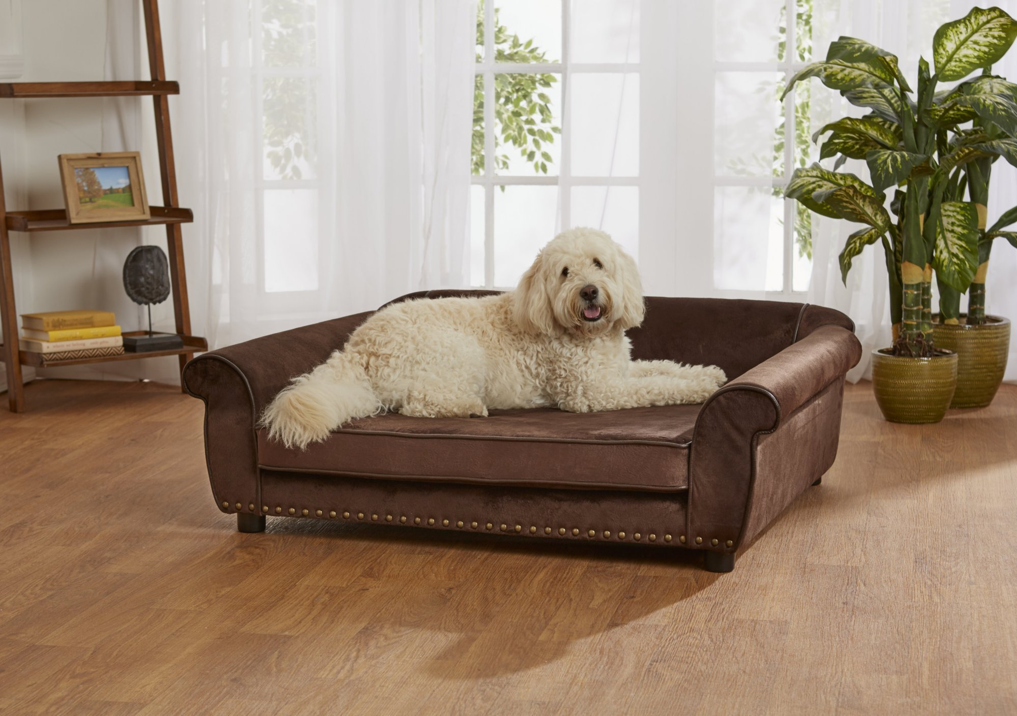 Enchanted Home Pet Brown Ultra Plush Outlaw Pet Sofa
