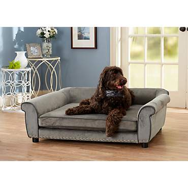 Enchanted Home Pet Grey Ultra Plush Outlaw  Pet Sofa