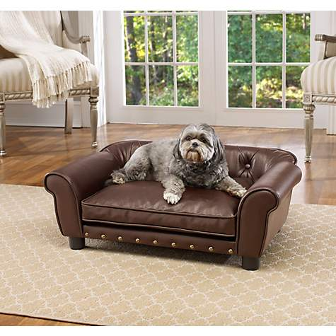 Enchanted Home Pet Brown Brisbane Tufted Pet Bed
