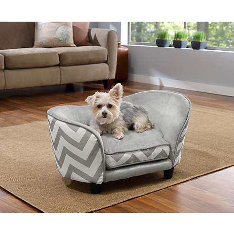 Nice Enchanted Home Pet Grey Chevron Ultra Plush Snuggle Pet Bed | Petco