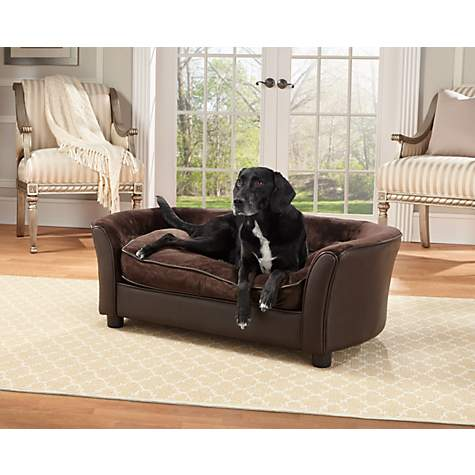 Enchanted Home Pet Brown Ultra Plush Panache Pet Bed | Petco