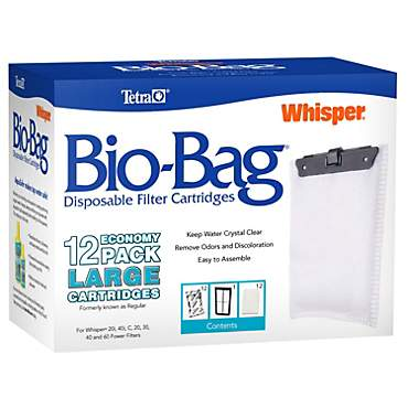 Tetra Whisper Bio Bag Disposable Filter Cartridges Large 12 Pack