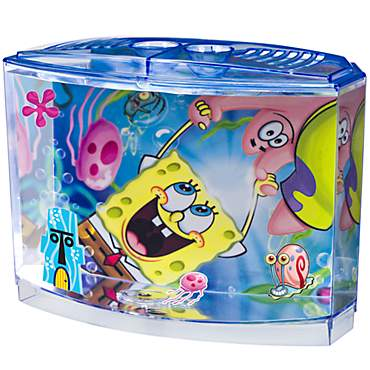 Penn Plax SpongeBob Squarepants Betta Aquarium Kit, 0.5 Gallon