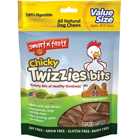 Emerald Pet Chicky Twizzies Bits Dog Treats