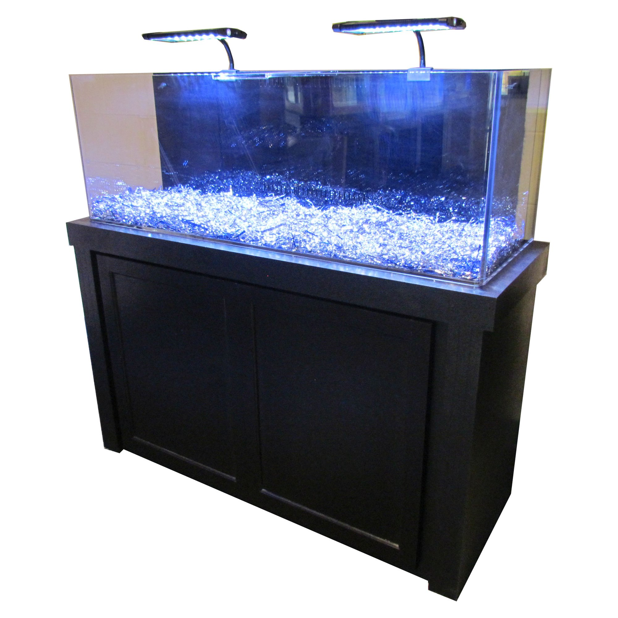 Small aquarium fish tanks - 50 Gallon Black Fusion Series Cabinet Tank Combo