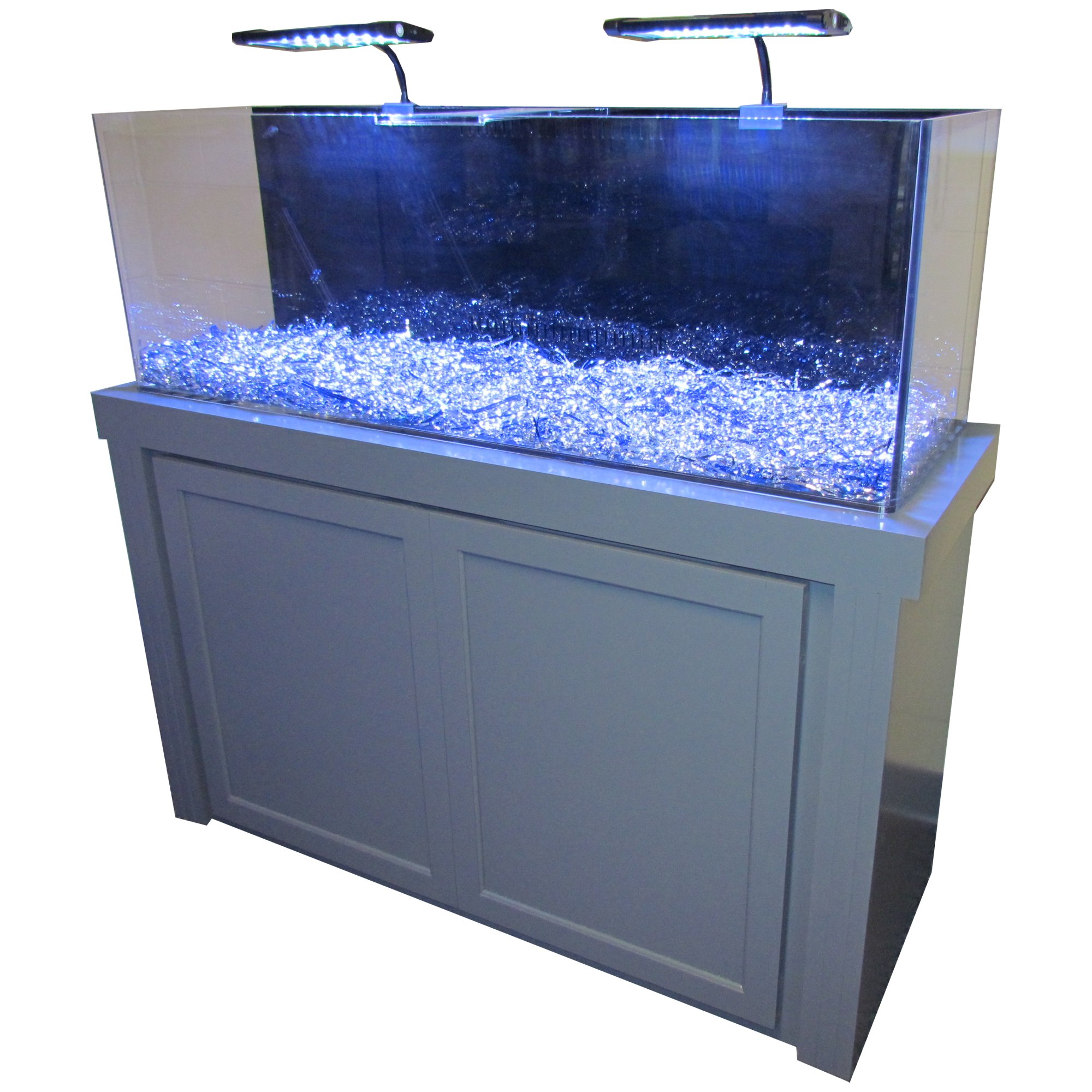 50 gallon grey fusion series cabinet tank combo petco for 50 gallon fish tank dimensions