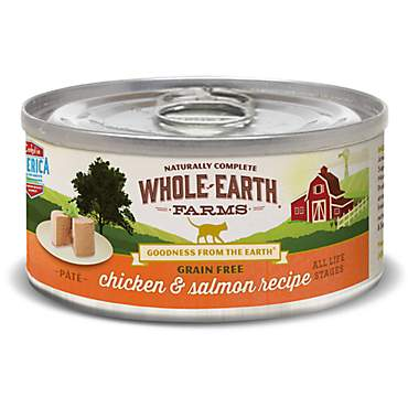 Whole Earth Farms Grain Free Real Chicken & Salmon Recipe Wet Cat Food