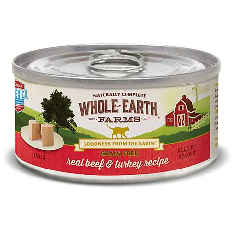 Whole Earth Farms Grain Free Real Beef & Turkey Recipe Wet Cat Food