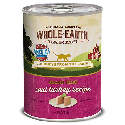 Whole Earth Farms Grain Free Turkey Recipe Wet Cat Food