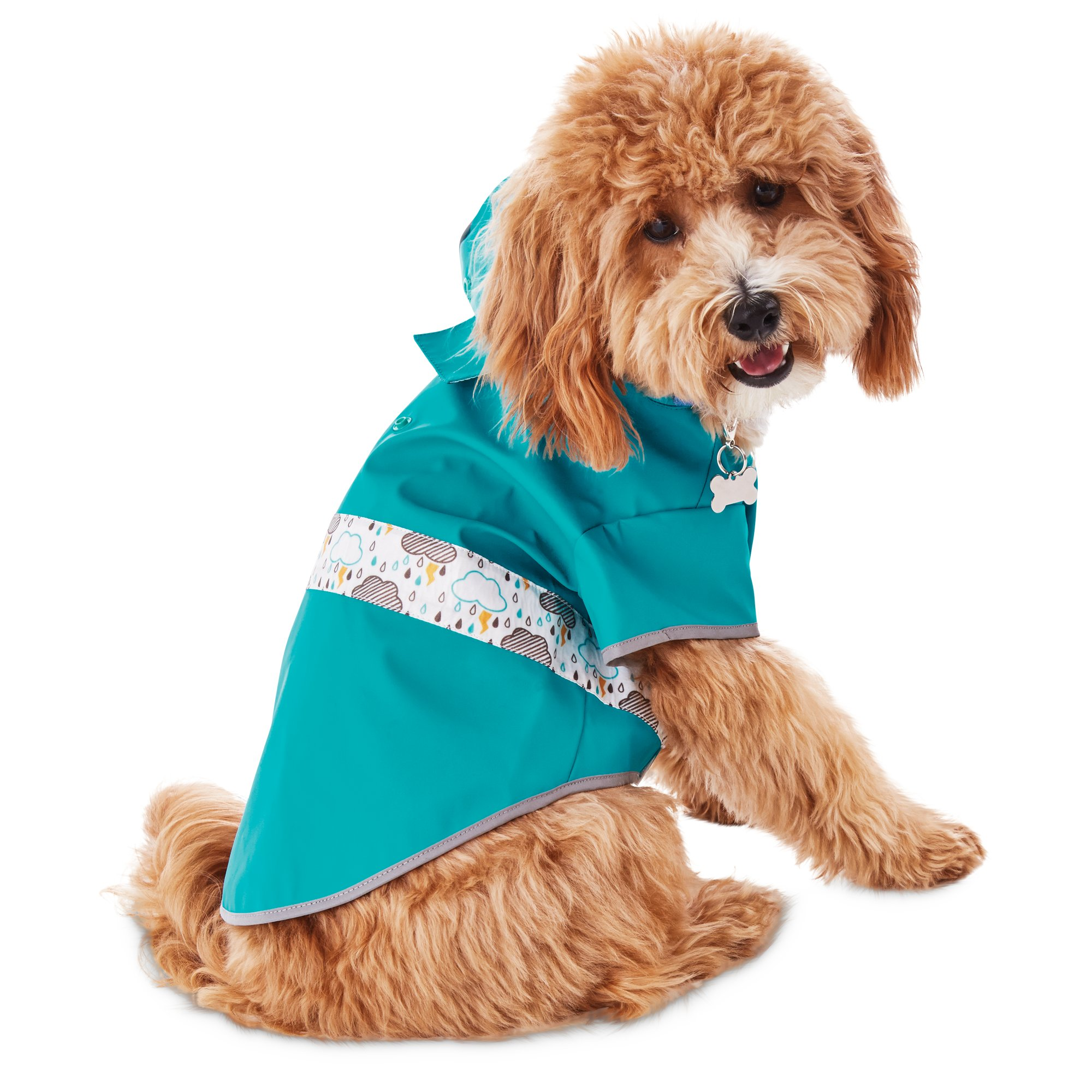 3 Color Hooded Pet Dog Raincoats Waterproof Clothes For Small Dogs Chihuahua Yorkie Dog Raincoat
