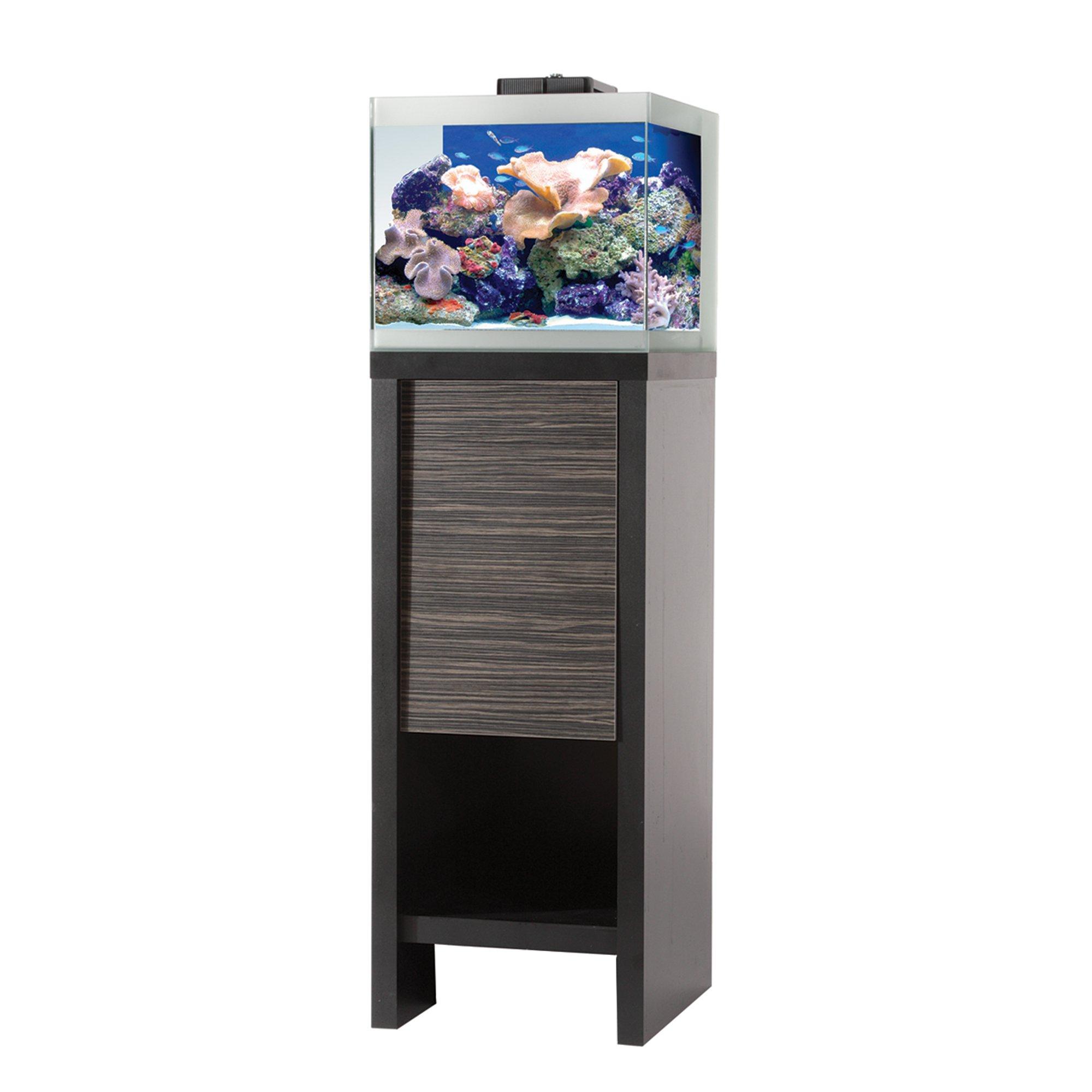 Fluval reef m40 aquarium set w black stand petco for Aquarium set