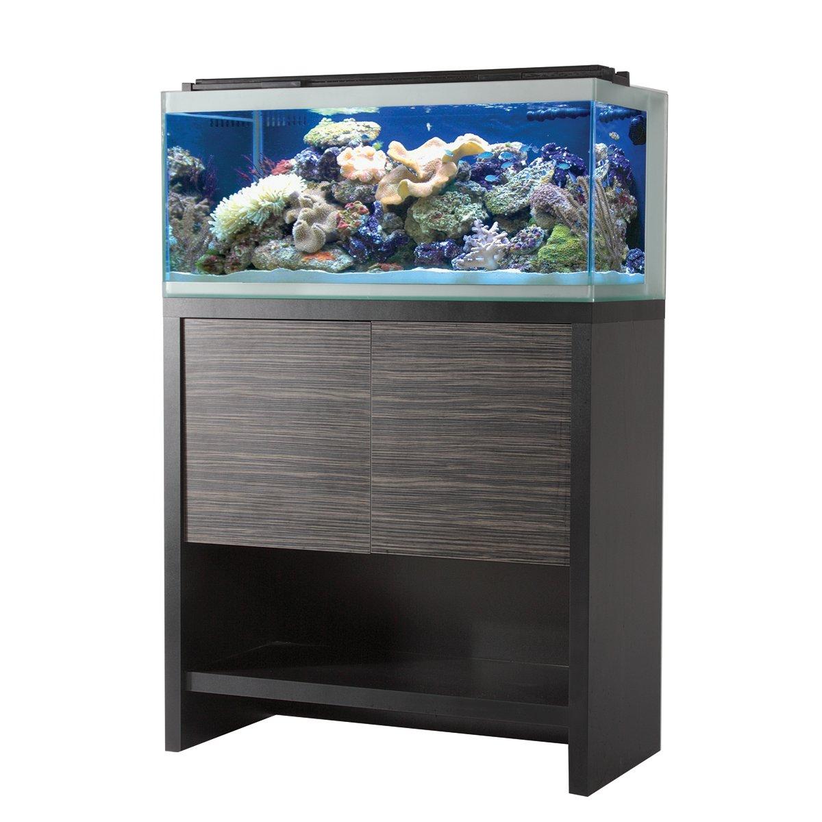 Fluval reef m90 aquarium set w black stand petco for Aquarium set