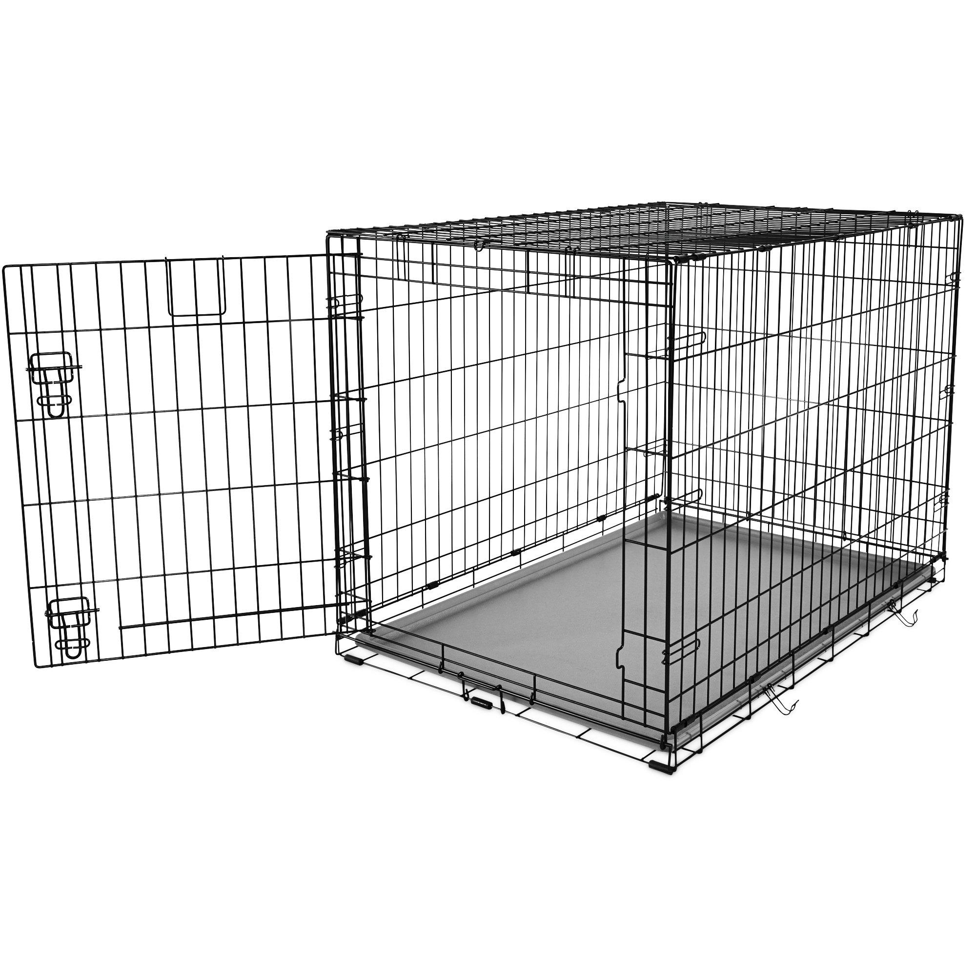 You & Me 1-Door Folding Dog Crate, 42