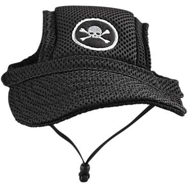 Bond & Co. Black Mesh Skull Patch Dog Cap