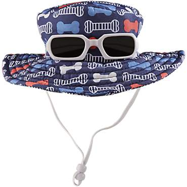 Bond & Co. Navy Bone Print Sunglasses Bucket Hat