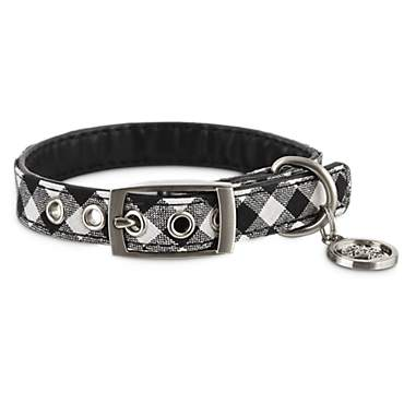 Bond & Co. Black & White Gingham Collar for Small Dogs