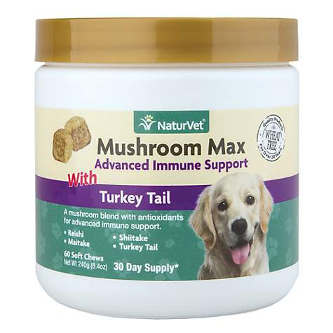 Naturvet Mushroom Max Advanced Immune Support Soft Chews
