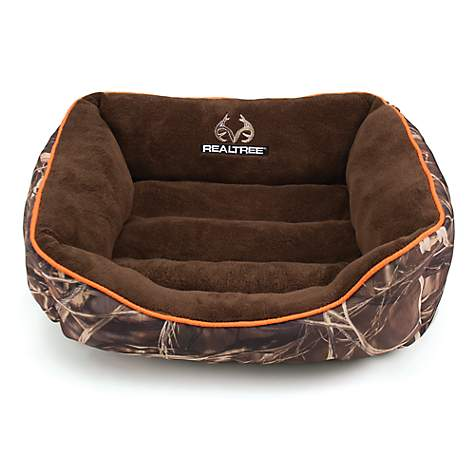 Realtree Camouflage with Orange Trim Pet Bed