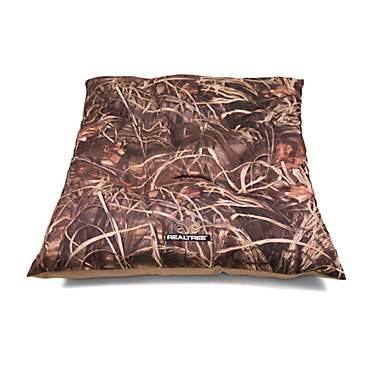 Realtree Camouflage with Brown Trim Tufted Pet Bed