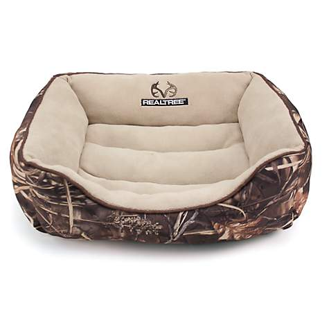 Realtree Camouflage with Brown Trim Pet Bed
