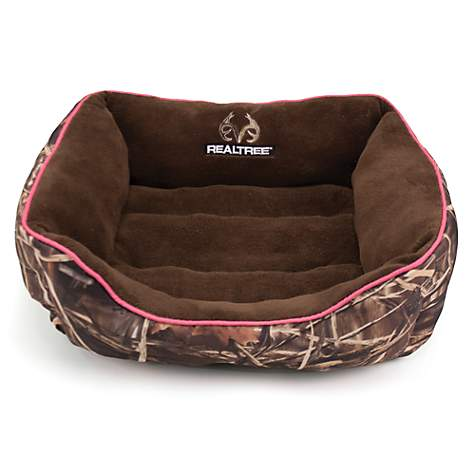 Realtree Camouflage with Pink Trim Pet Bed