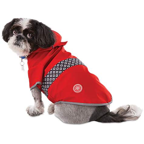 Good2Go Reversible Dog Raincoat in Red