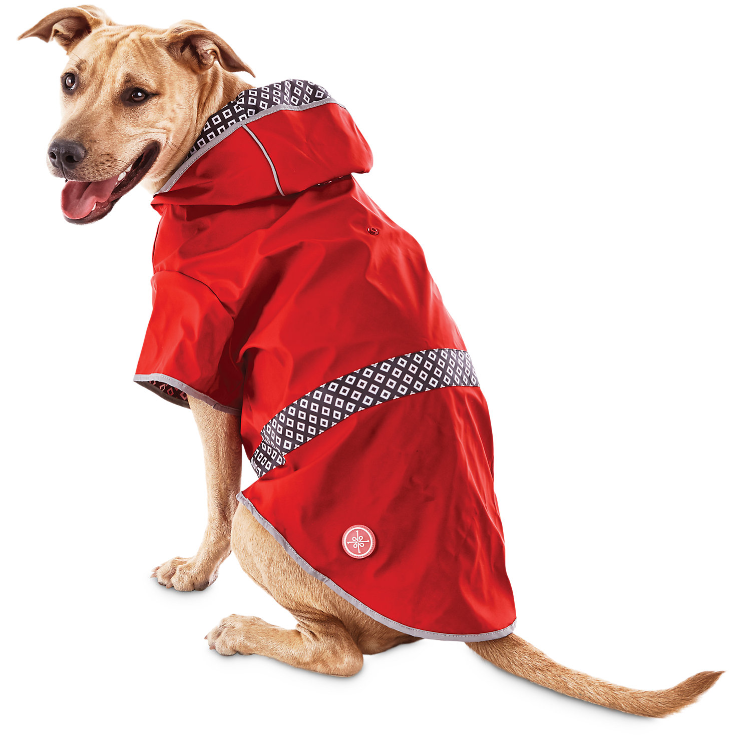 Good2go Reversible Dog Raincoat In Red, Large