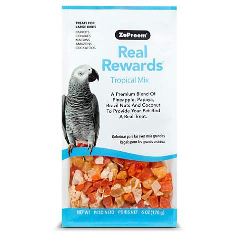 ZuPreem Real Rewards Tropical Mix Treats for Large Birds