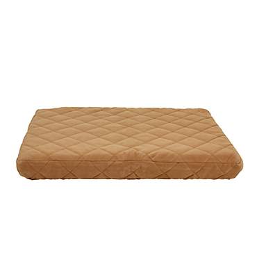 Carolina Pet Company Caramel Jamison Quilted Orthopedic Dog Bed