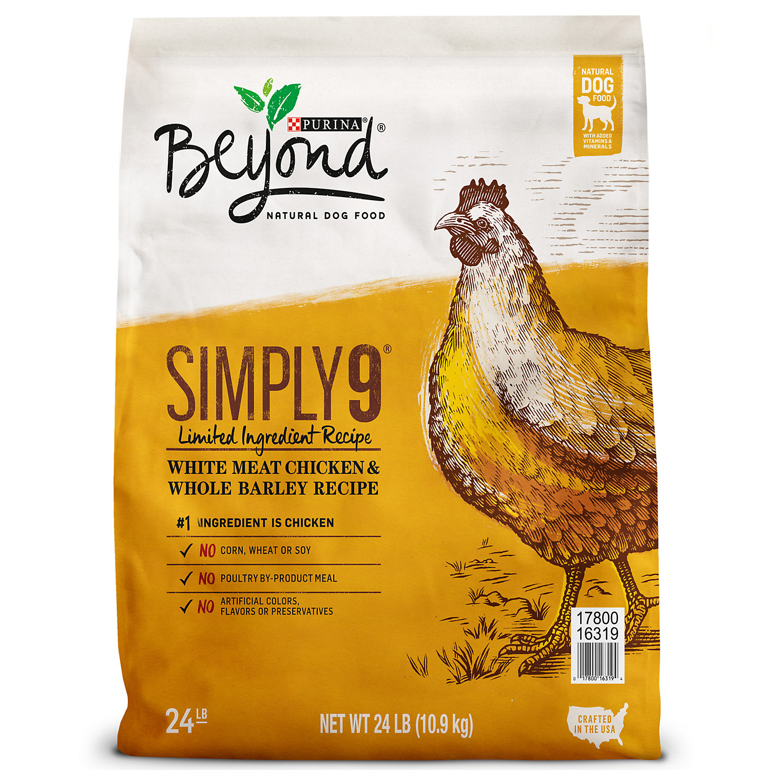 Purina Beyond Simply 9 White Meat Chicken Whole Barley Recipe Dog Food 24 Lb