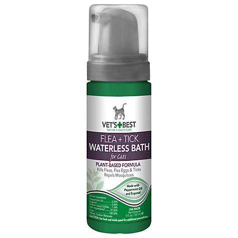 Vet's Best Flea & Tick Waterless Bath for Cats, 5 fl. oz.