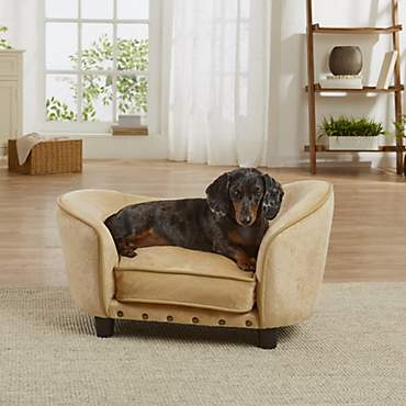 Enchanted Home Pet Caramel Ultra Plush Snuggle Pet Sofa