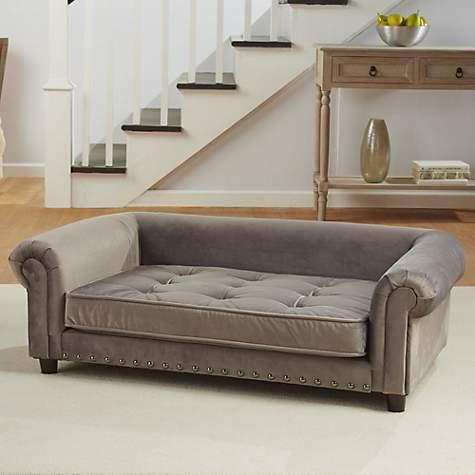Enchanted Home Pet Grey Velvet Manchester Pet Sofa, 44.5\