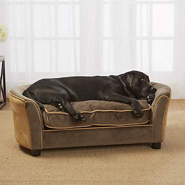 Enchanted Home Pet Mink Brown Ultra Plush Panache Pet Sofa