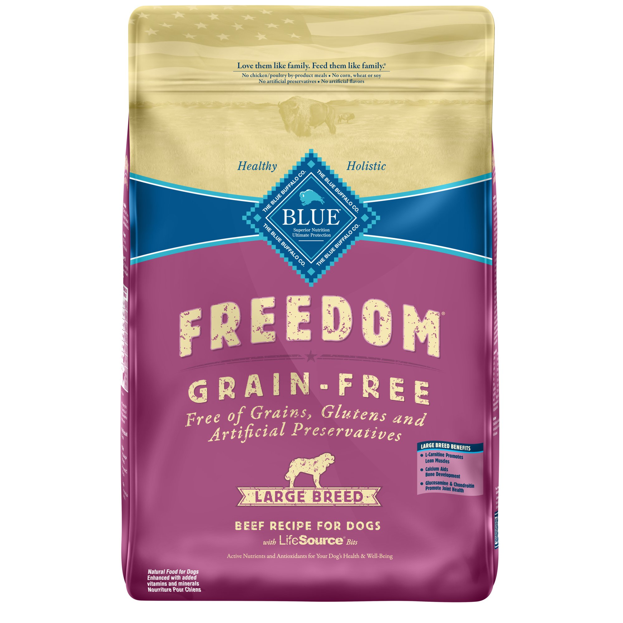 Blue Buffalo Freedom Grain Free Beef Large Breed Adult Dry