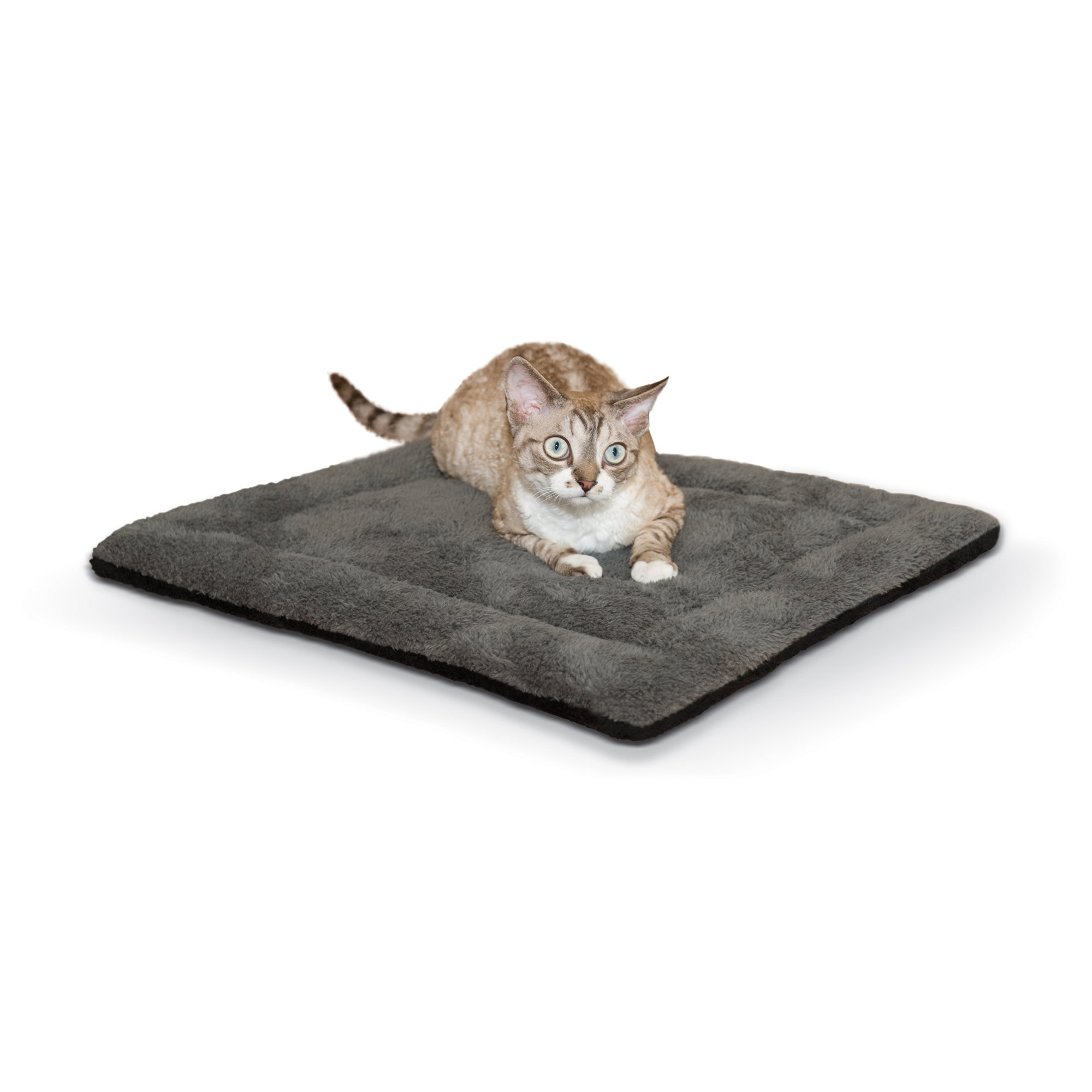 K Amp H Gray And Black Self Warming Pet Pad Petco