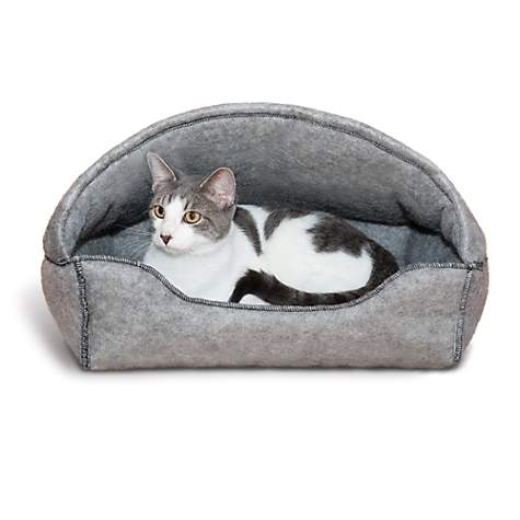 K&H Gray Amazin' Hooded Cat Lounger