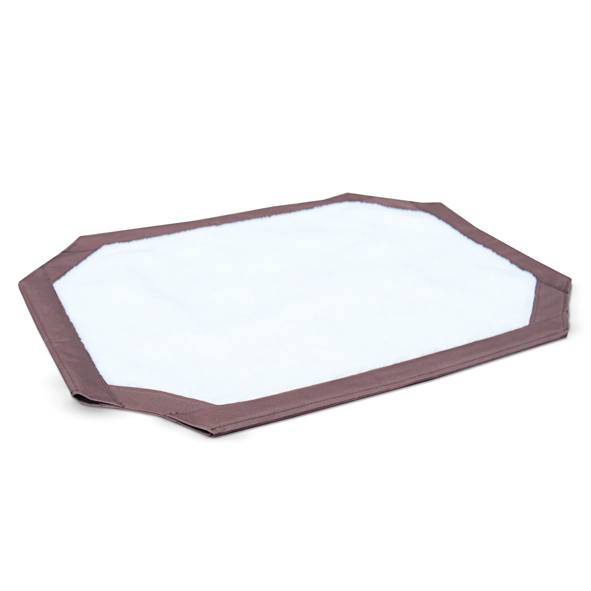 K&H Brown and White Self-Warming Pet Cot Cover