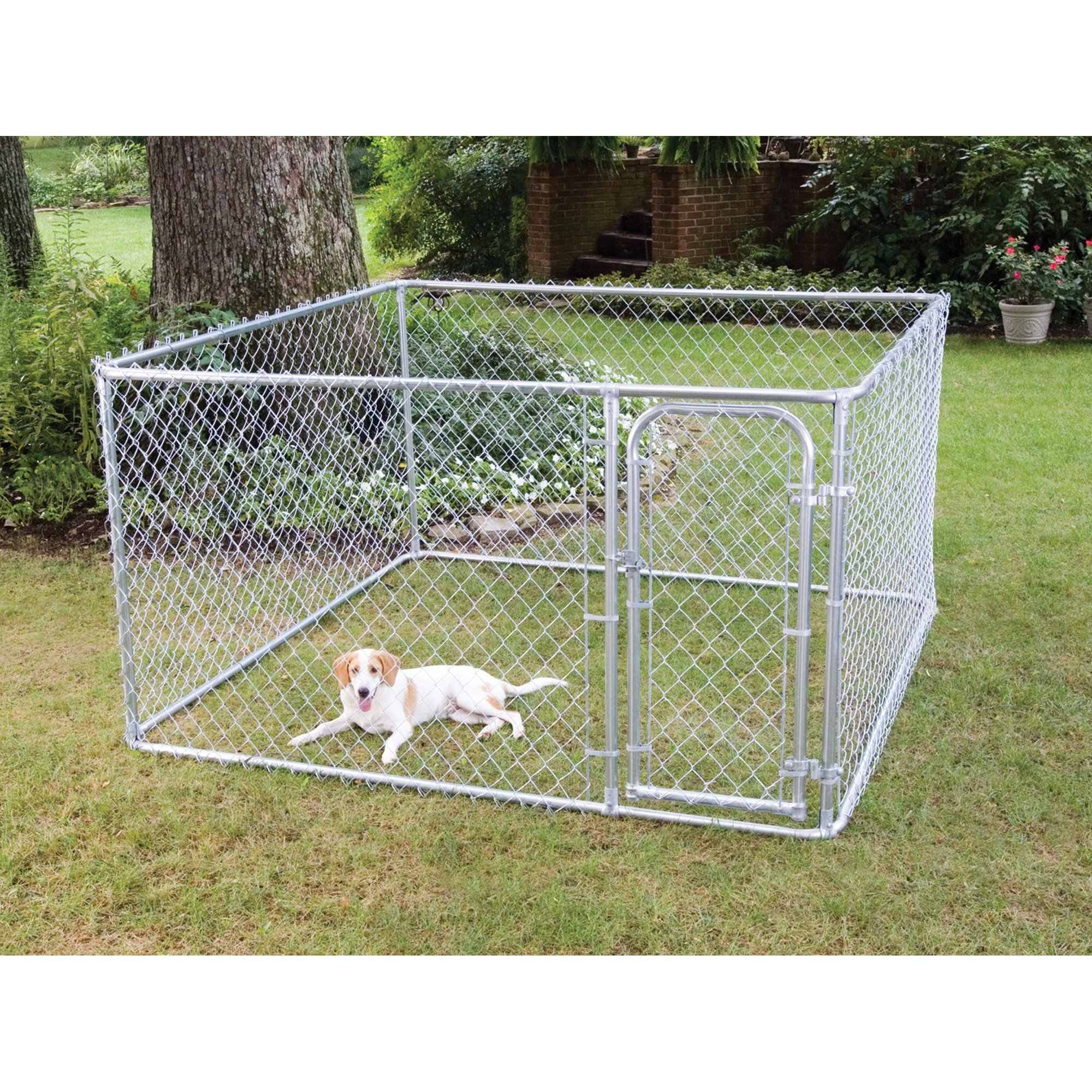 Fencemaster do it yourself chain link kennel petco for Puppy dog kennels