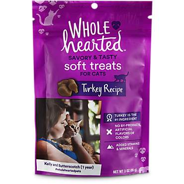 WholeHearted Savory & Tasty Soft Cat Treats - Turkey Recipe