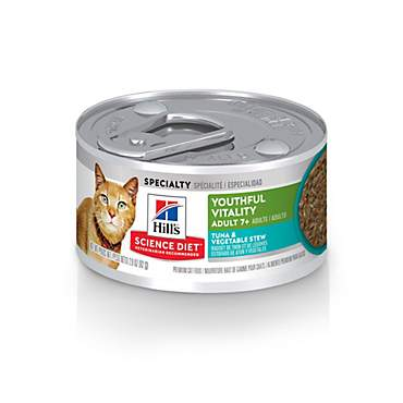 Hill's Science Diet Youthful Vitality Adult 7+ Tuna & Vegetable Stew Cat Food
