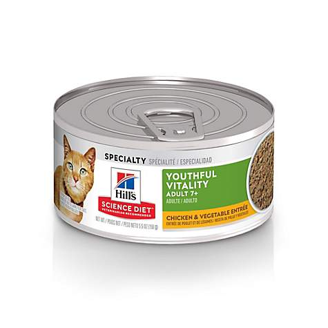 Hill's Science Diet Youthful Vitality Adult 7+ Chicken & Vegetable Entree Cat Food