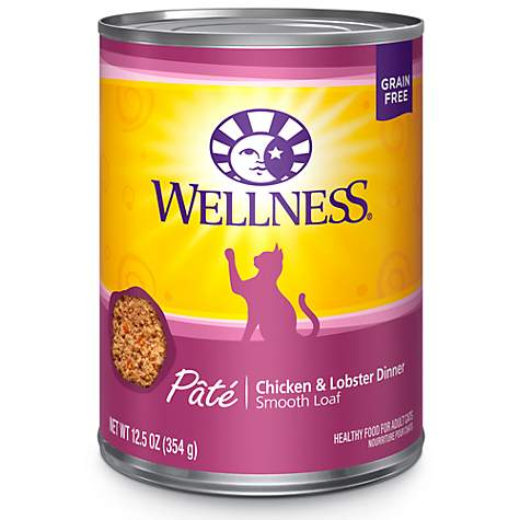 Wellness Complete Health Natural Grain Free Chicken & Lobster Pate Wet Cat Food
