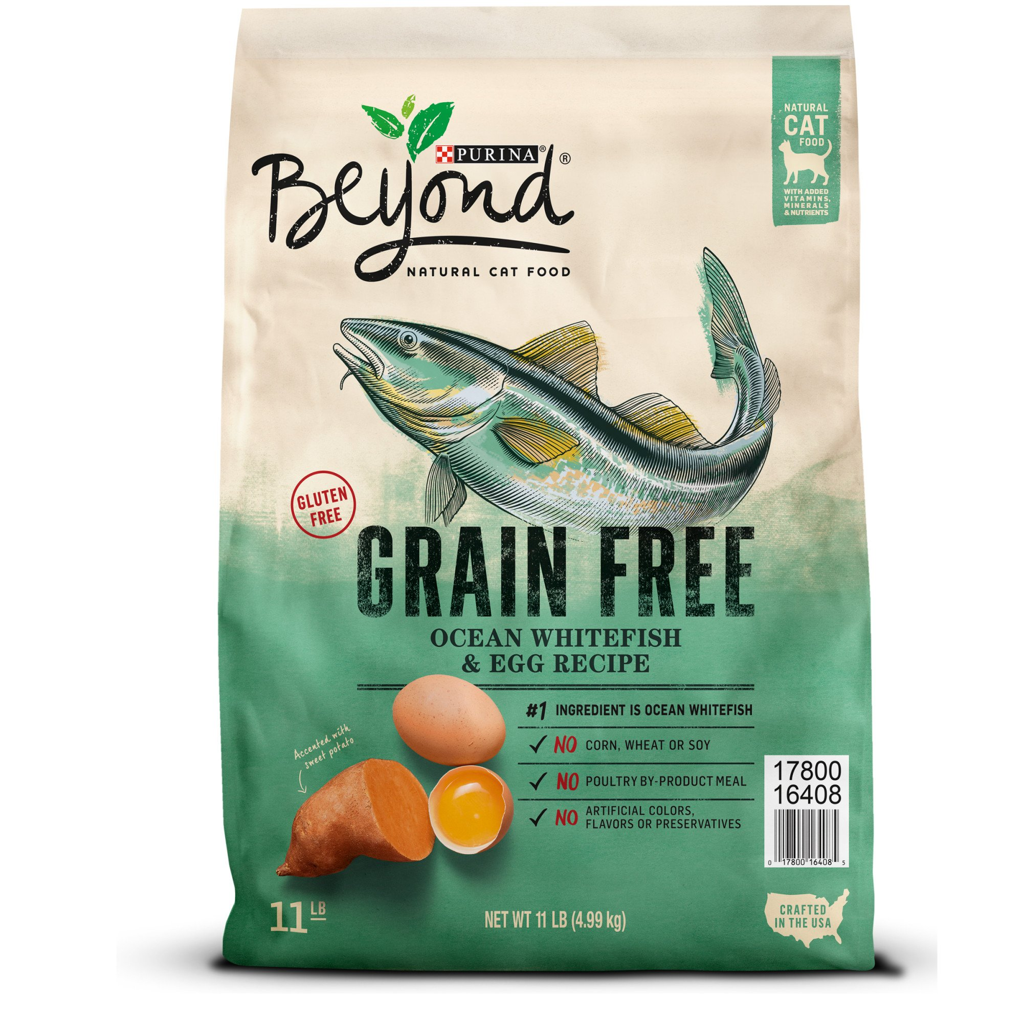 Purina Beyond Cat Food >> Purina Beyond Grain Free Ocean Whitefish & Egg Recipe Cat ...