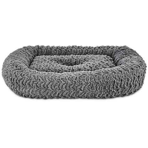 Harmony Rectangle Cat Bed in Grey