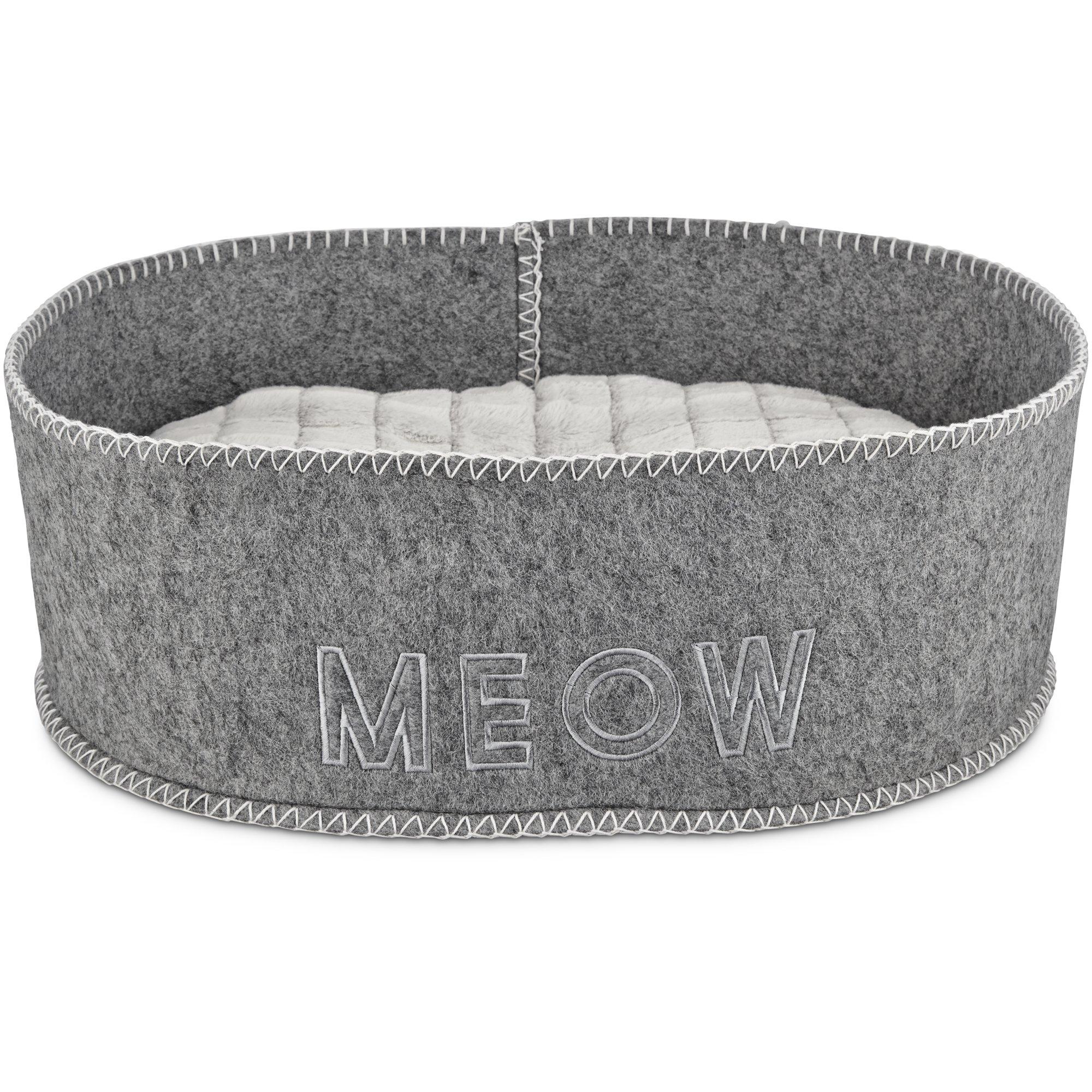 Harmony Grey Felt Cat Bed Petco