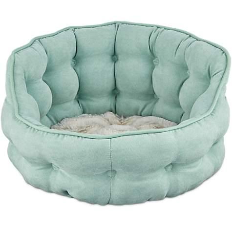 Pleasing Harmony Tufted Cat Bed In Seaglass 18 L X 17 W Customarchery Wood Chair Design Ideas Customarcherynet