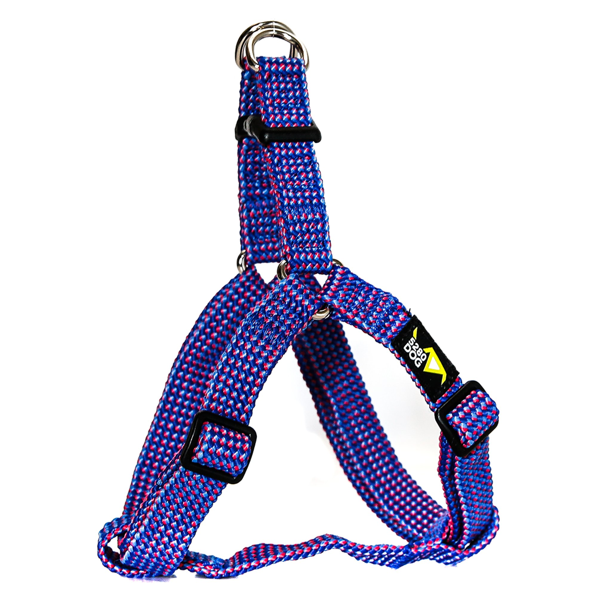 5280DOG Royal Blue Braided Step-In Harness, Medium