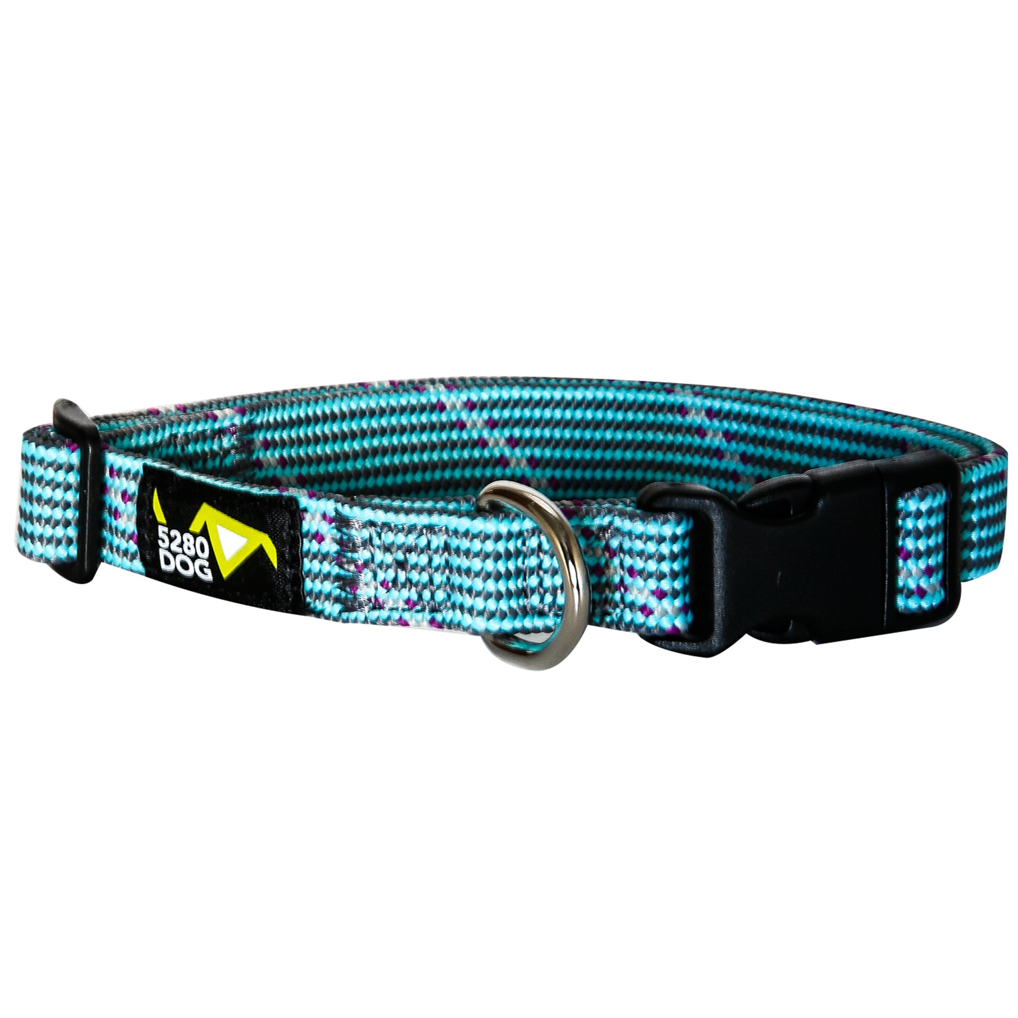 5280DOG Turquoise Braided Collar, Medium